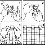 50 clipes + adesivo para fixação de redes